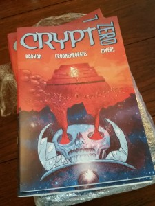 Freshly minted print editions of Crypt Zero.